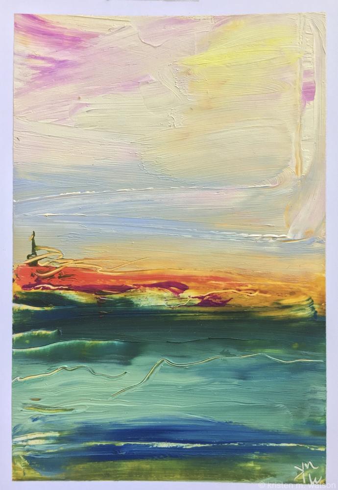 Horizon Crimson II_sequencia_2018_oil on paper_©2018kristenmwatson.jpg