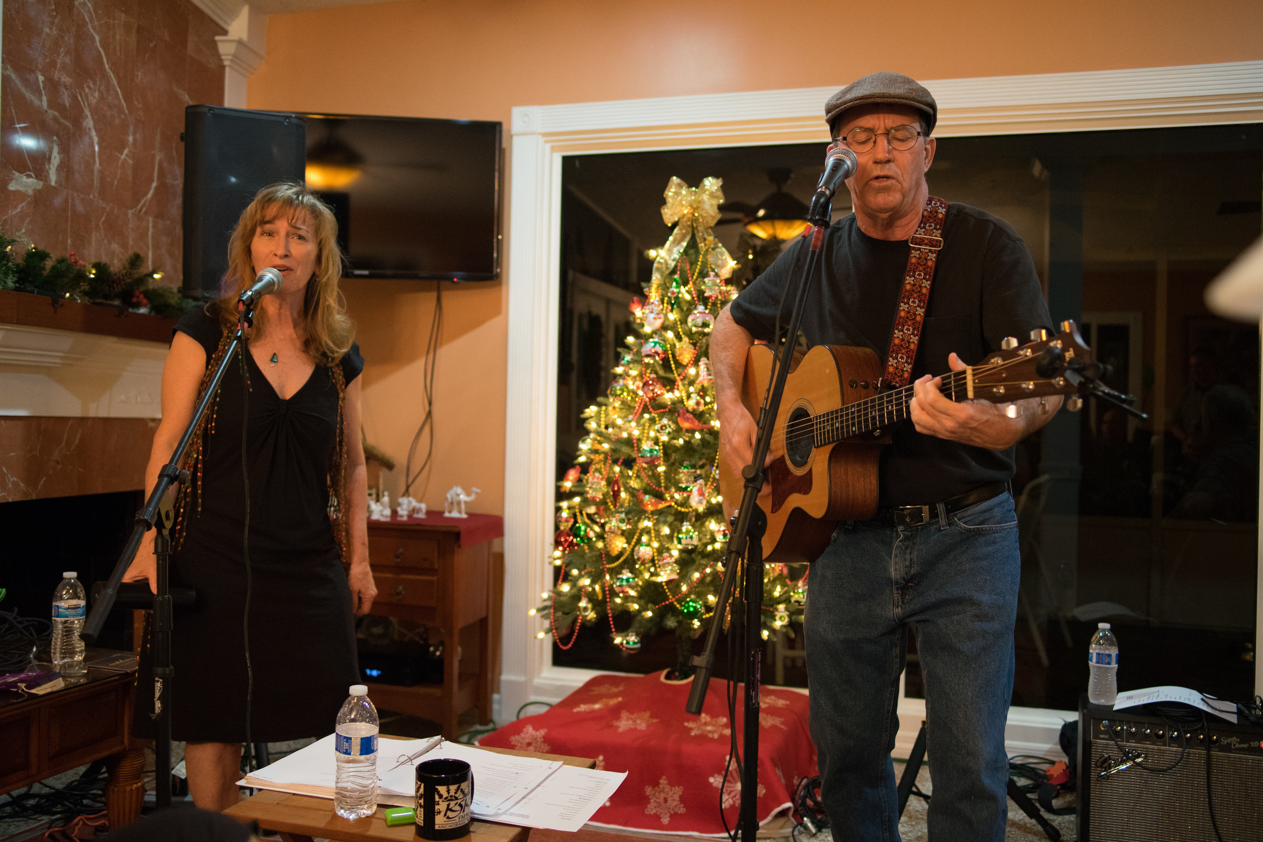Mandy and Joe at St. Petersburg, FL House Concert December 12, 2015 , photo credit: Mitchel Frick