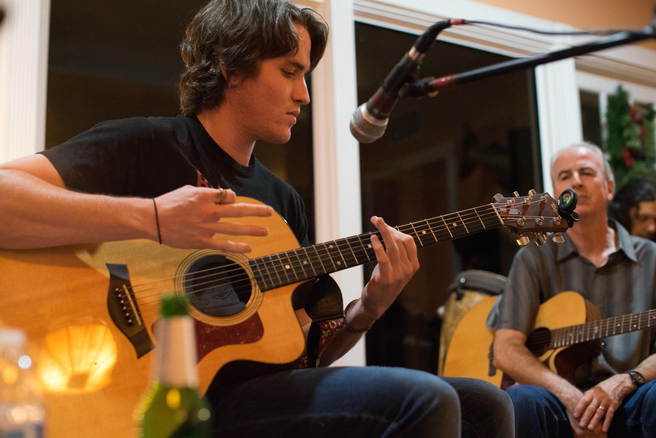 Patrick Milligan at the JMP House Concert,St. Petersburg, FL December 12, 2015 , photo credit: Mitchel Frick