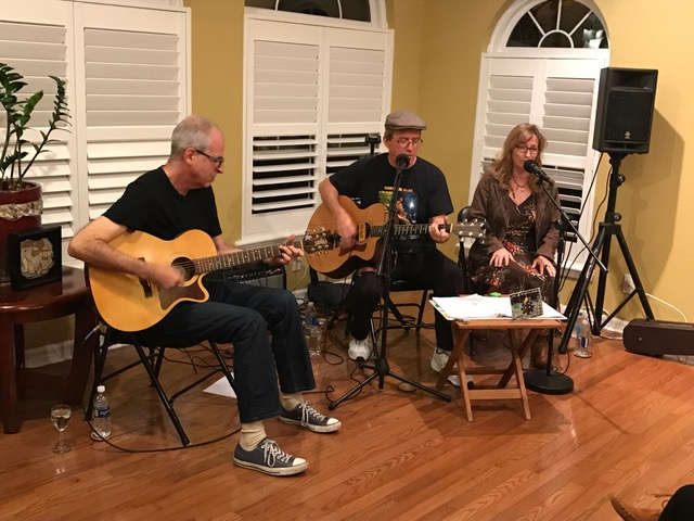 The Joe Milligan Project Ltd (Douglas, Joe & Mandy) at Coquina Key House Concert January 14, 2017