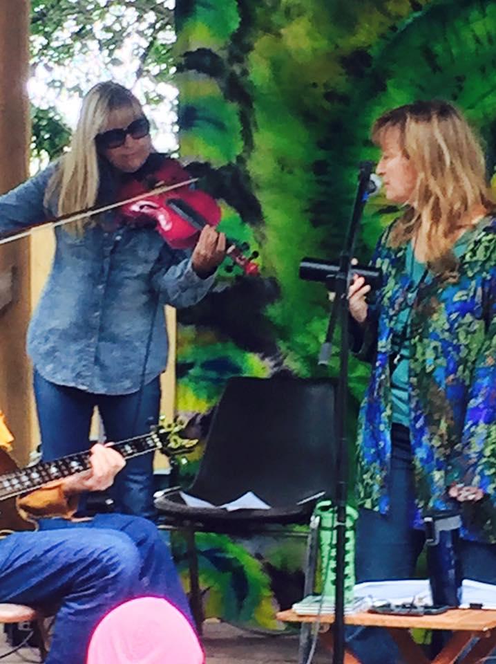Amanda Gerttula and Amanda Frick at Sweetwater Organic Farm with JMP, November 1, 2015