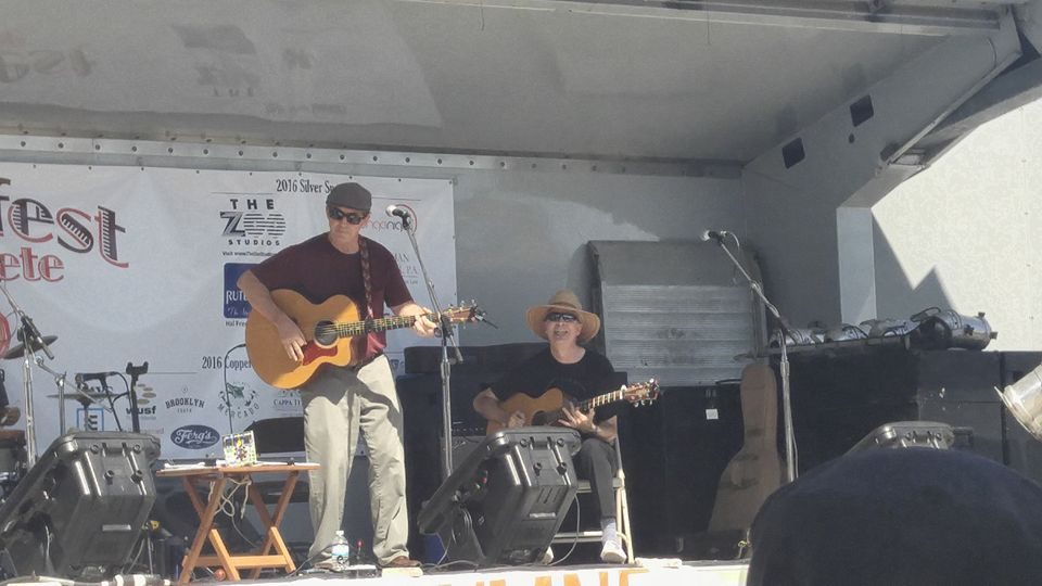 The Joe Milligan Project at Folk Fest St Pete (Joe and Douglas pictured), November 5, 2016