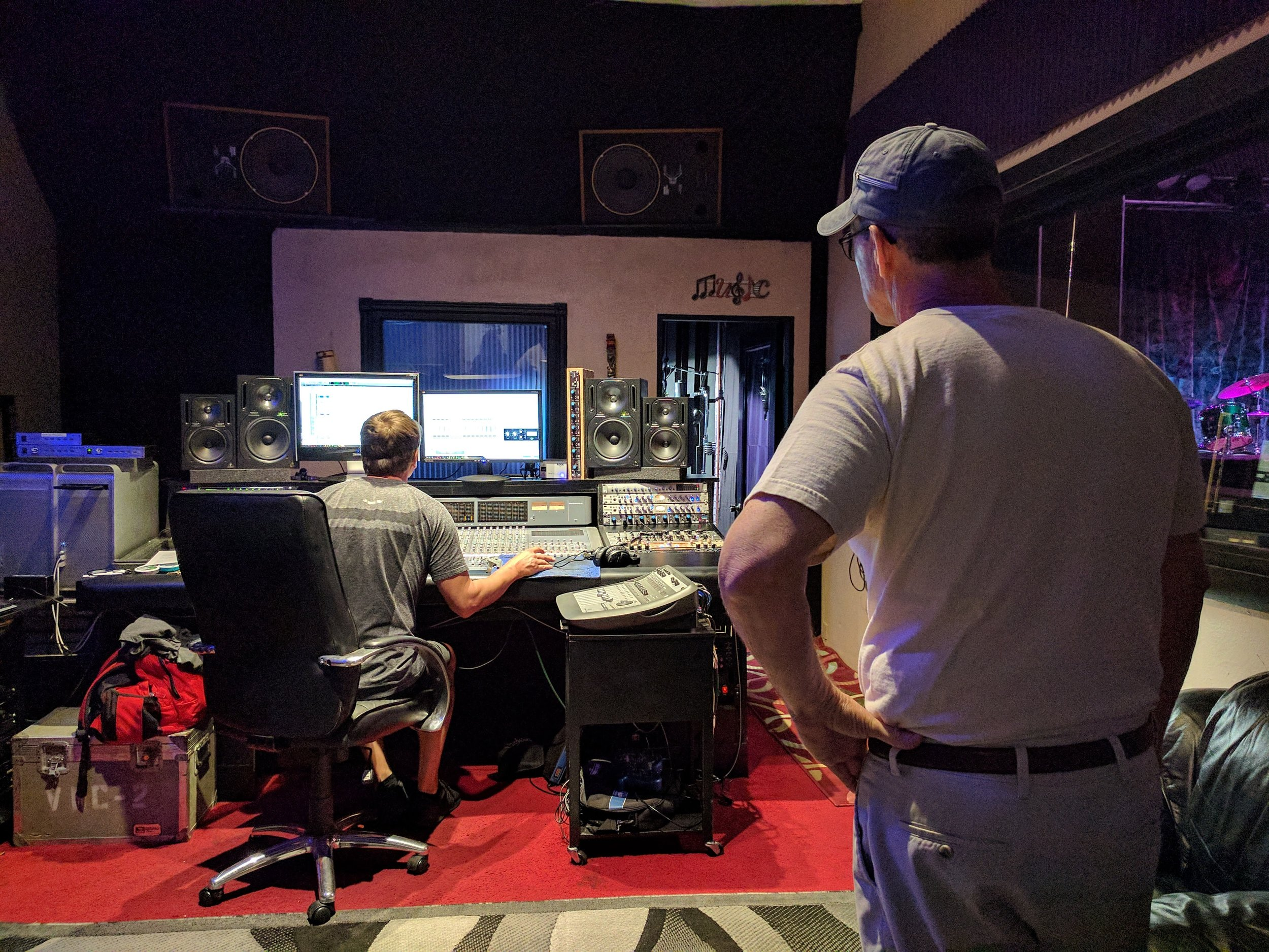 Jody Gray doing his magic at Pro Star Recording Studio, St. Petersburg, FL. 20 April 2017.