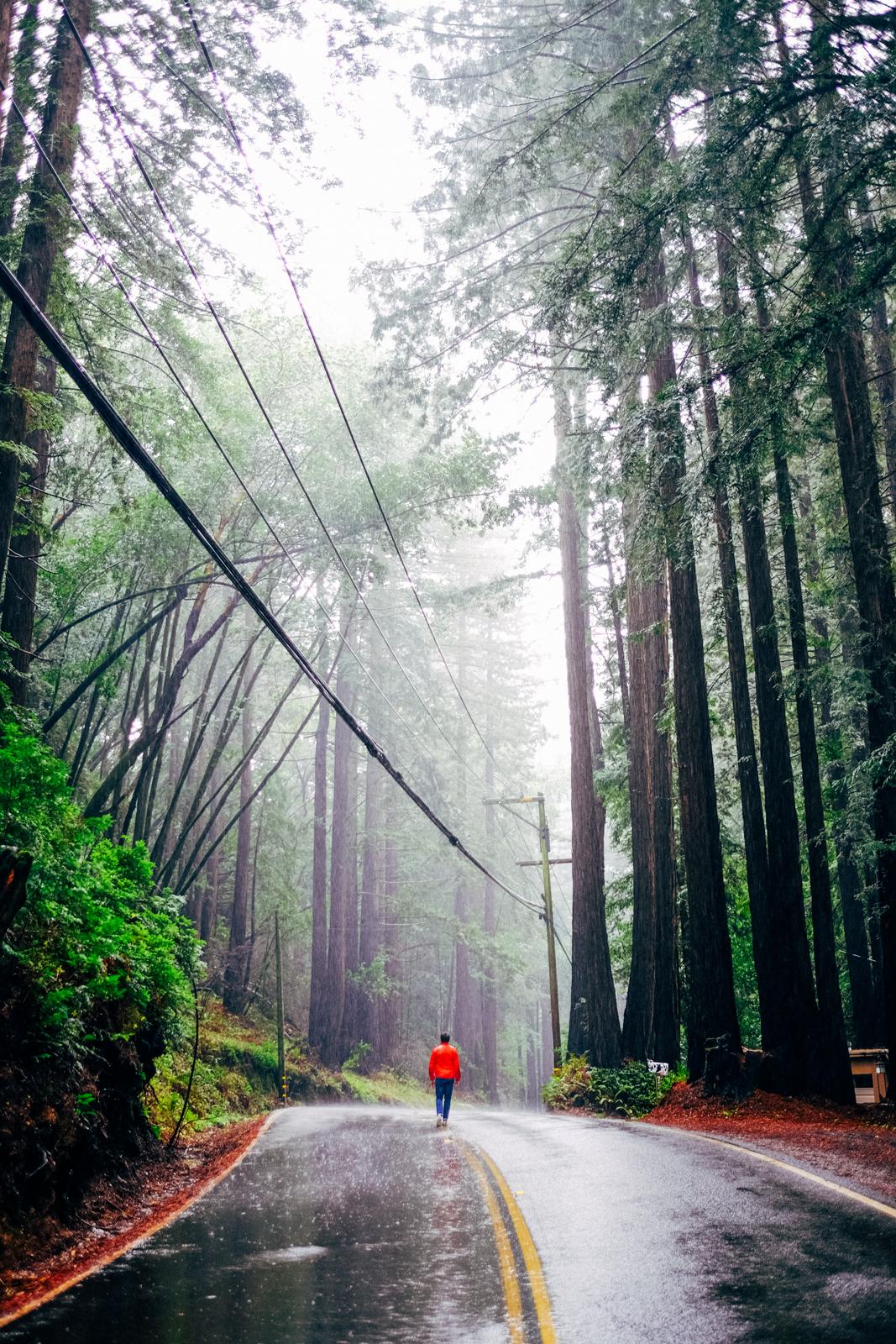 Foto de Adrián en su  road trip  californiano.