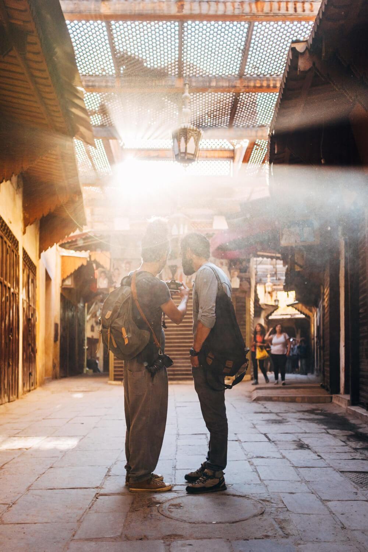 El mercado marroquí a contraluz | Foto: Adrián Cano