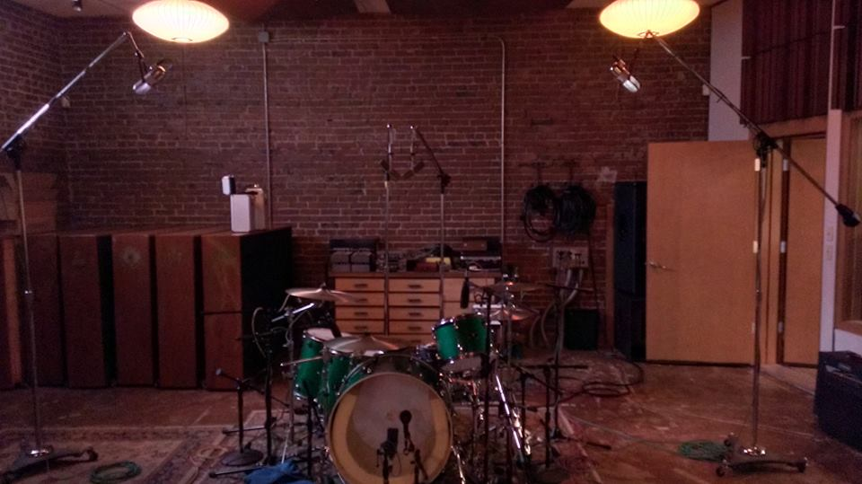 Randy's Drums set up at Kung Fu Bakery Recording Studio in Portland.jpg
