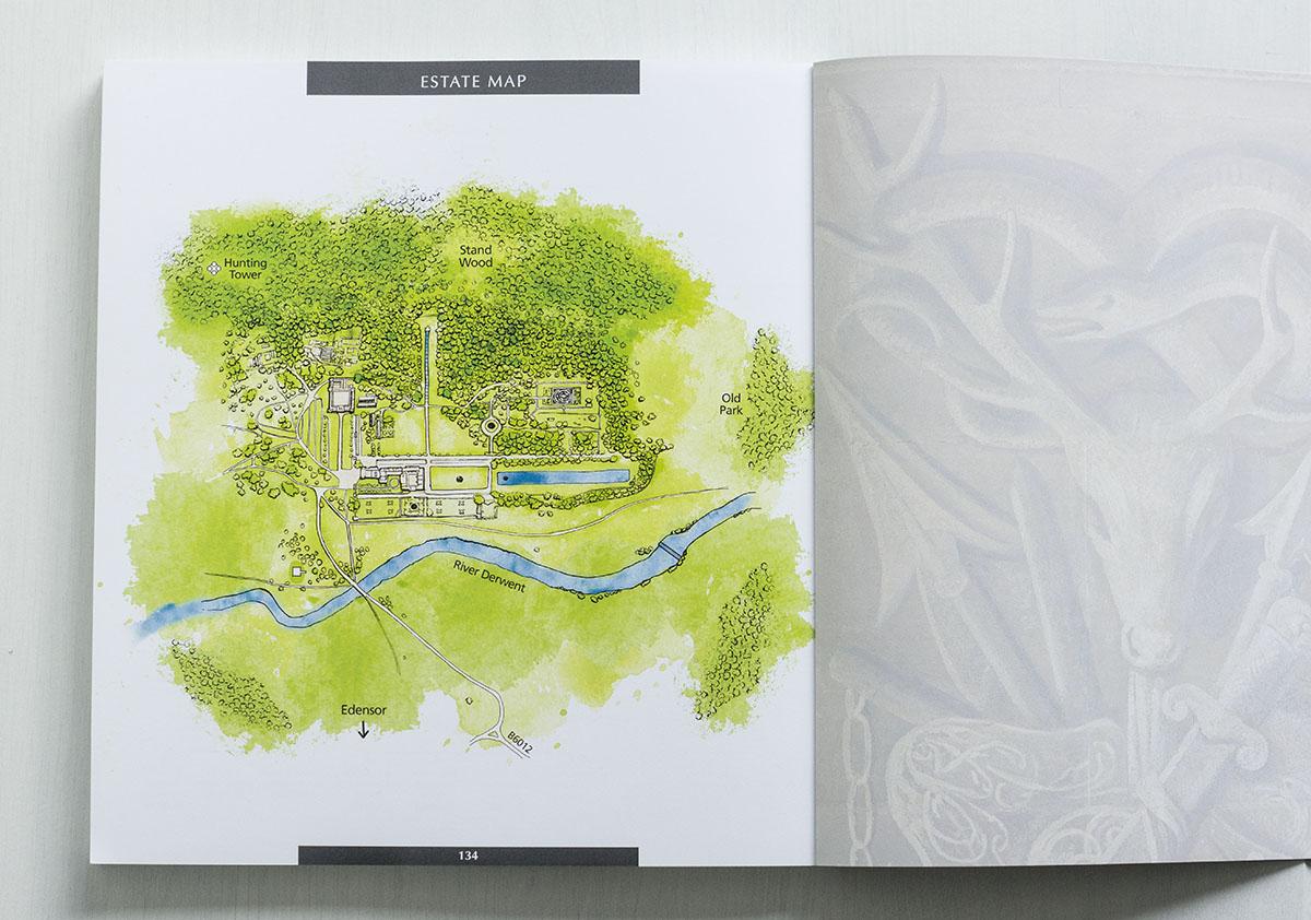 chatsworth house illustrated map