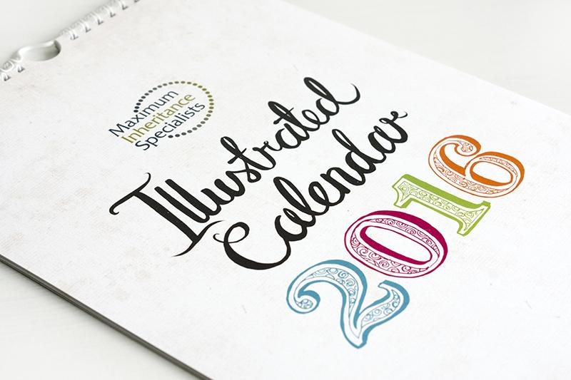 hand lettered calendar