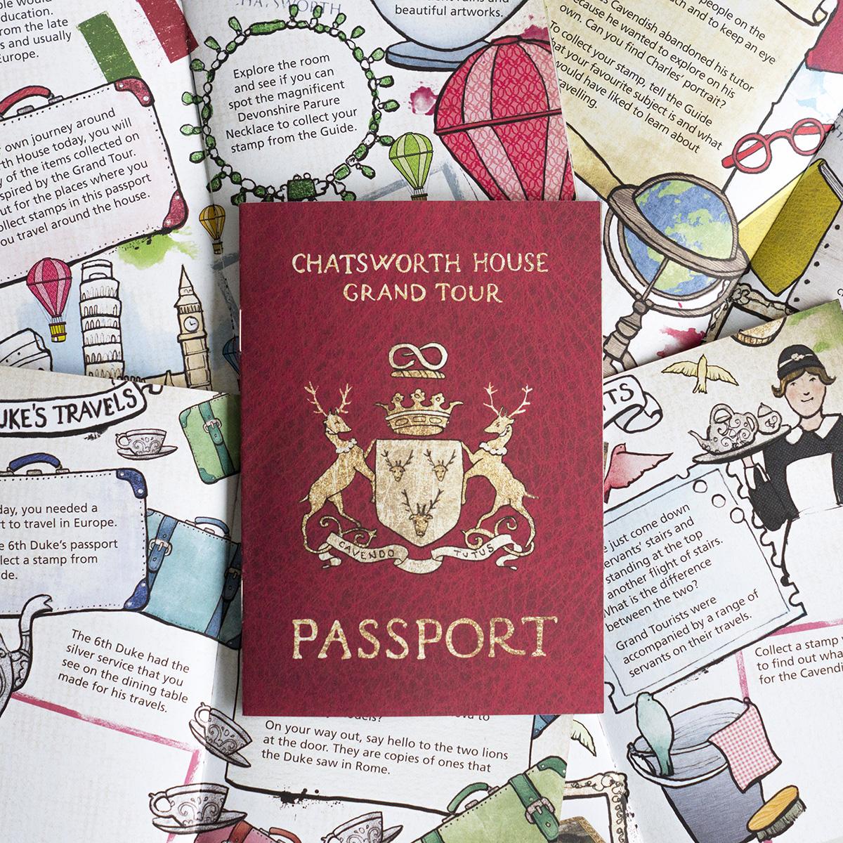 Chatsworth House illustrated passport