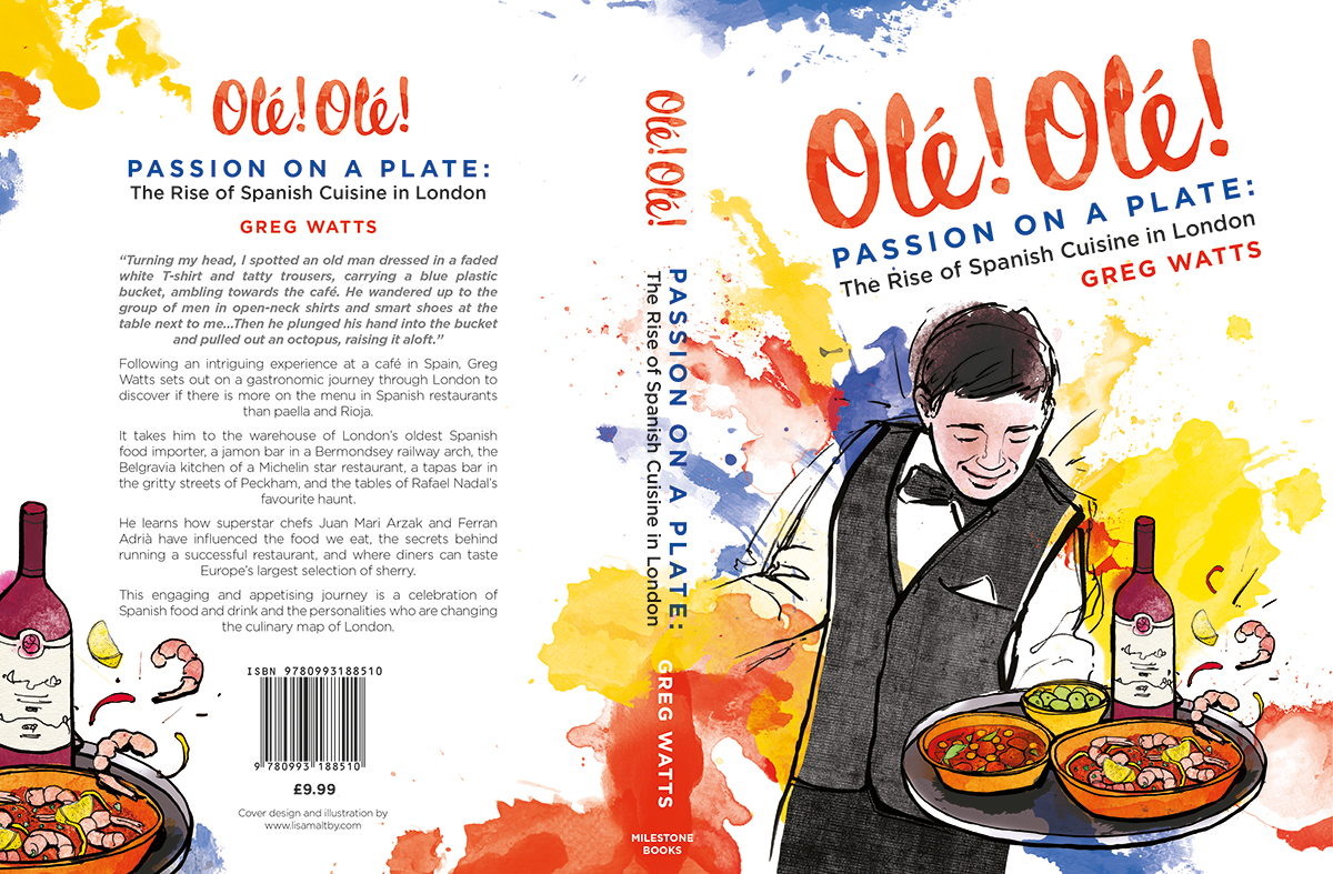 Ole Ole! passion on a plate cover design