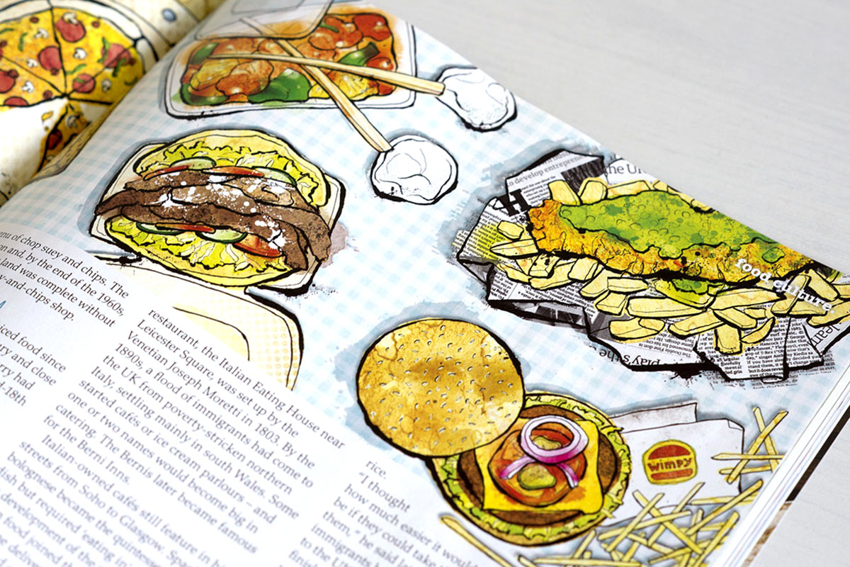 delicious magazine illustration
