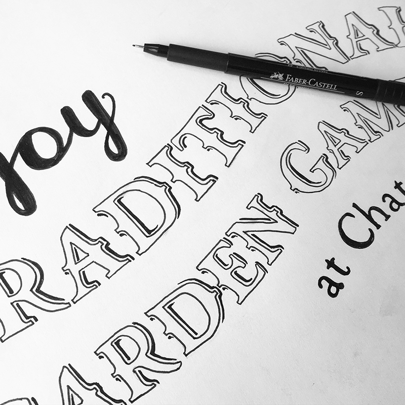 hand drawn lettering rough