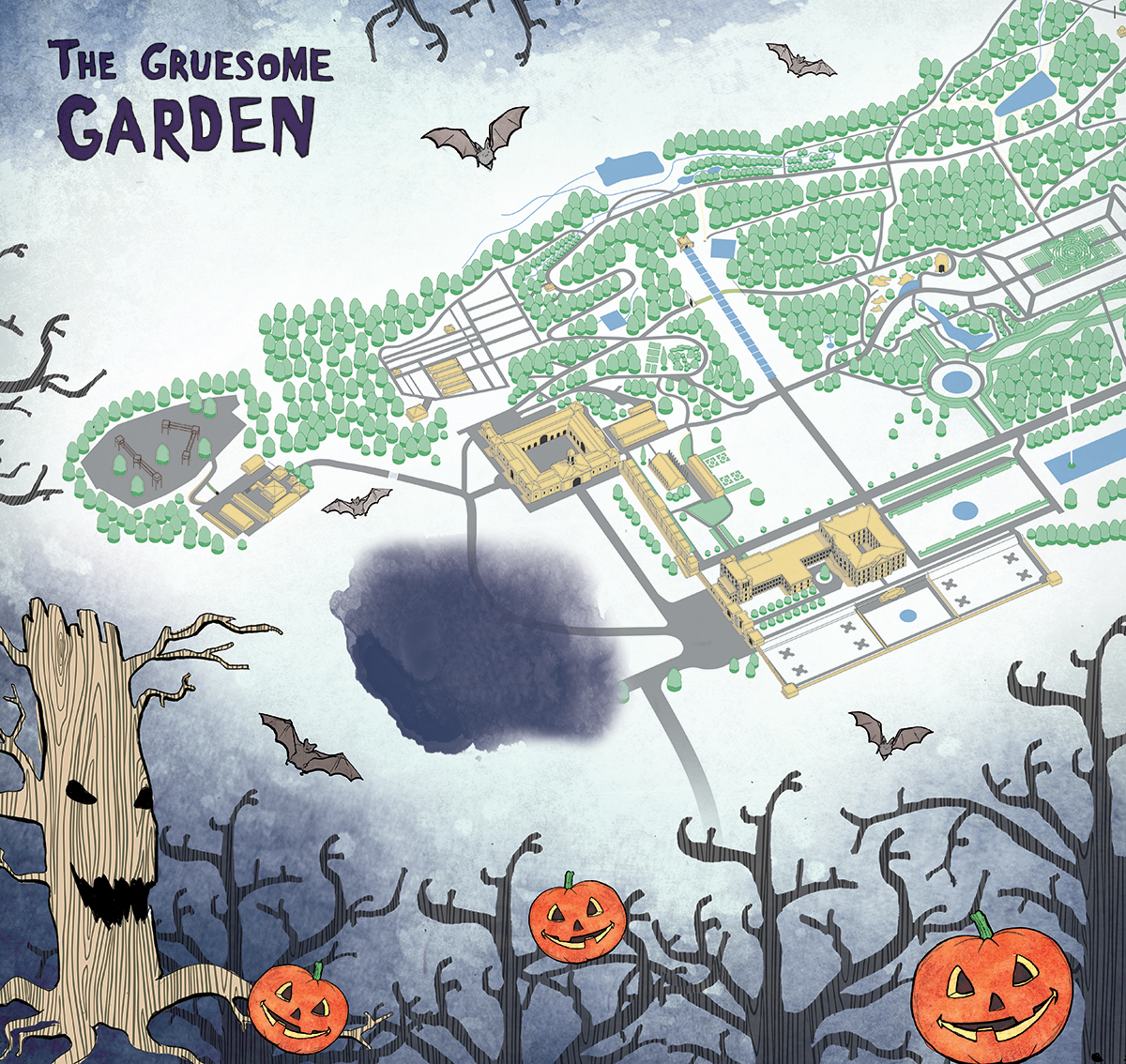 chatsworth house halloween map