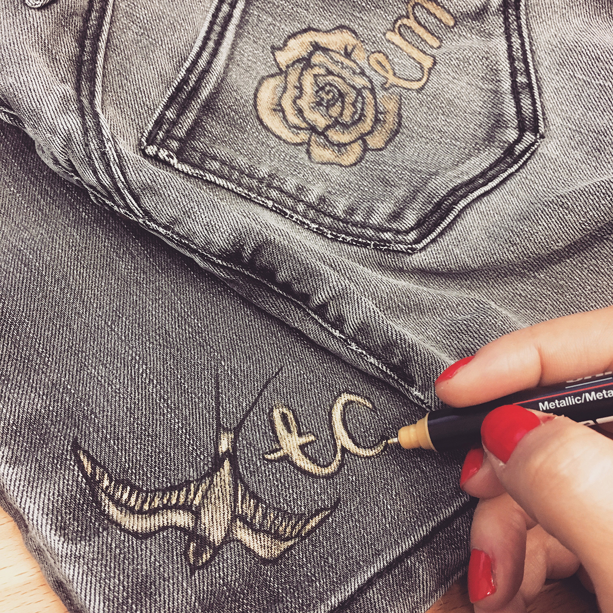 customising jeans