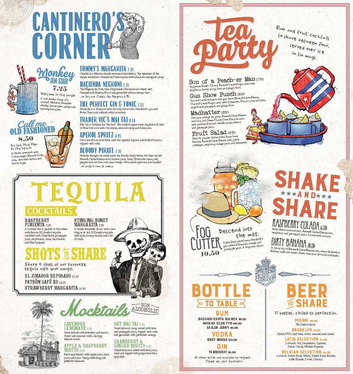 revolucion de cuba cocktail illustrations