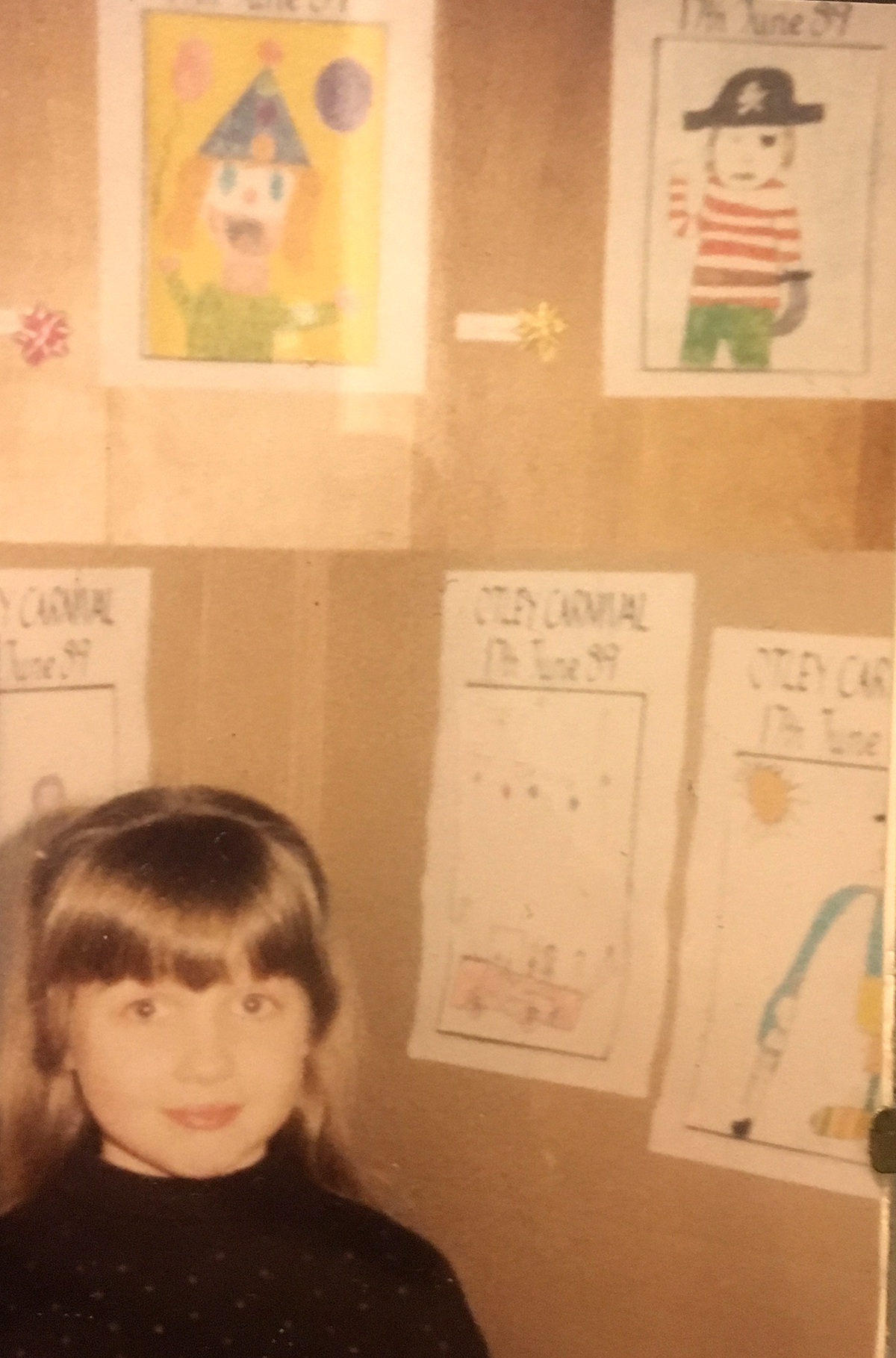 Where the  self-entitled, selfie  attitude began: me winning the Otley carnival art prize in 1989. I demanded a Curly Wurly and an ice pop on the way home. it's been a slippery slope downhill since then.