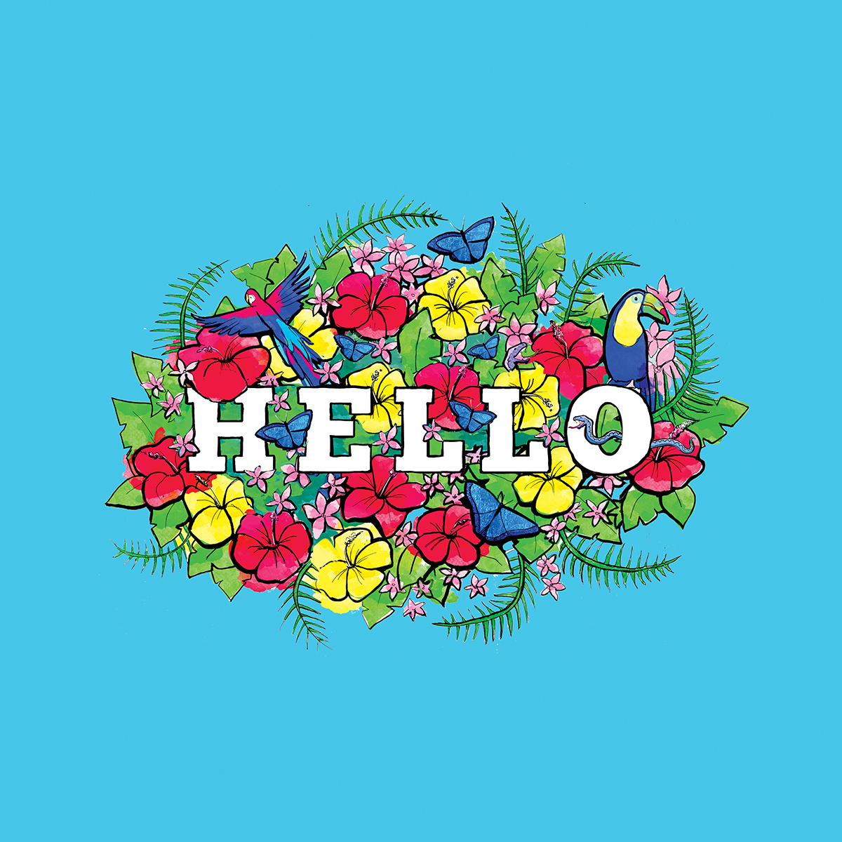 hello illustration