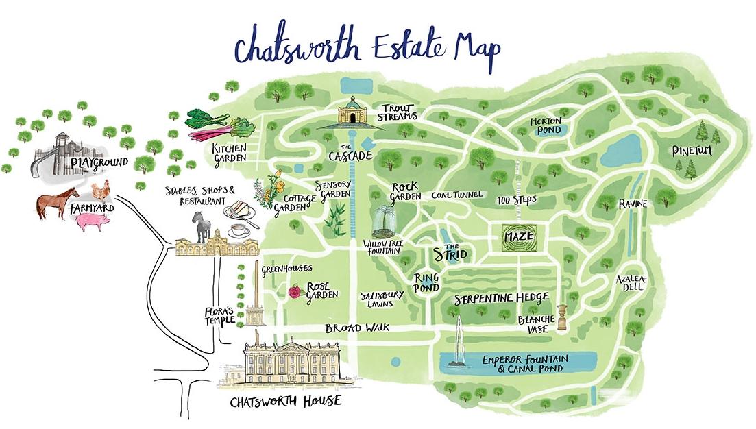 chatsworth House Map