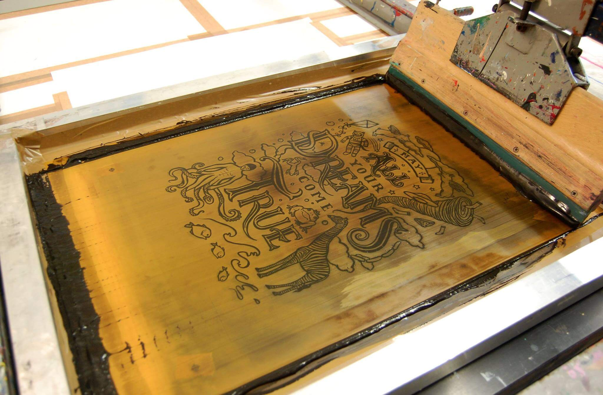 My screen print hand pulled by APG works (photo by APG)