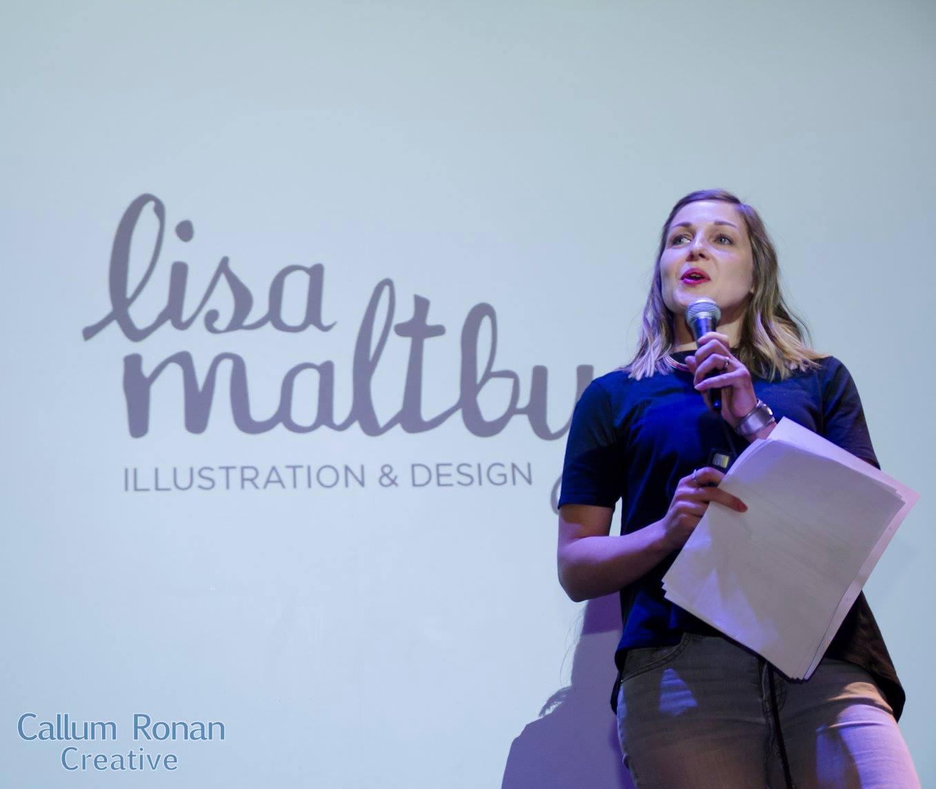 No, I'm not singing the Nessun Dorma, I'm doing a talk. Photo credit:  Callum Ronan Creative