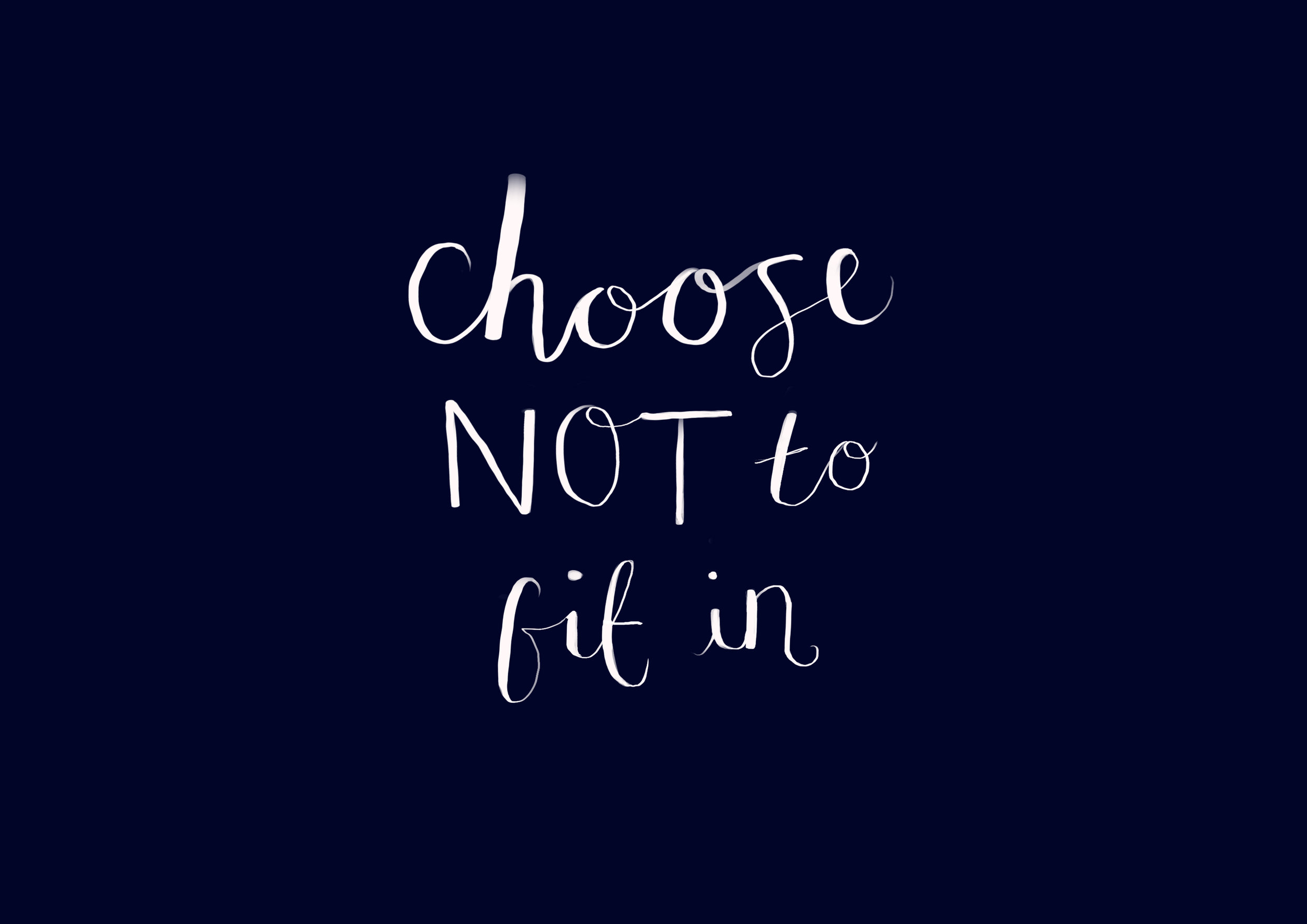 choose not to fit in
