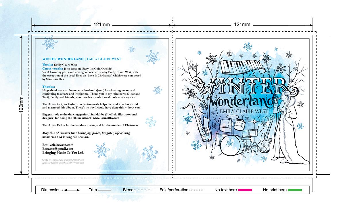 Illustrated CD advert