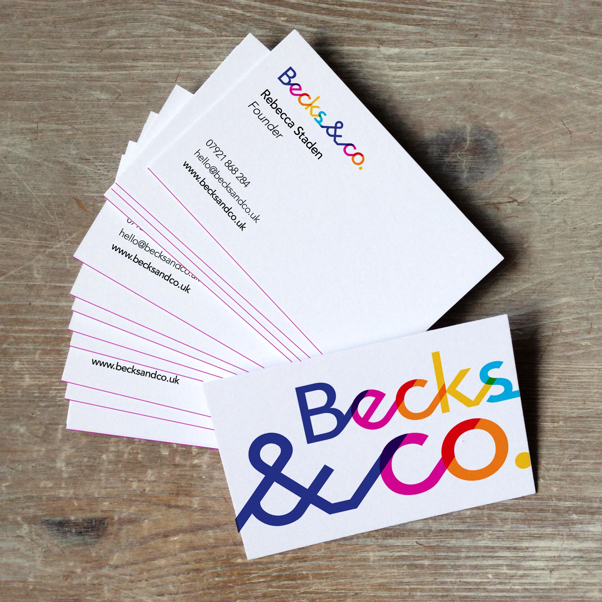 becks and co brand identity design