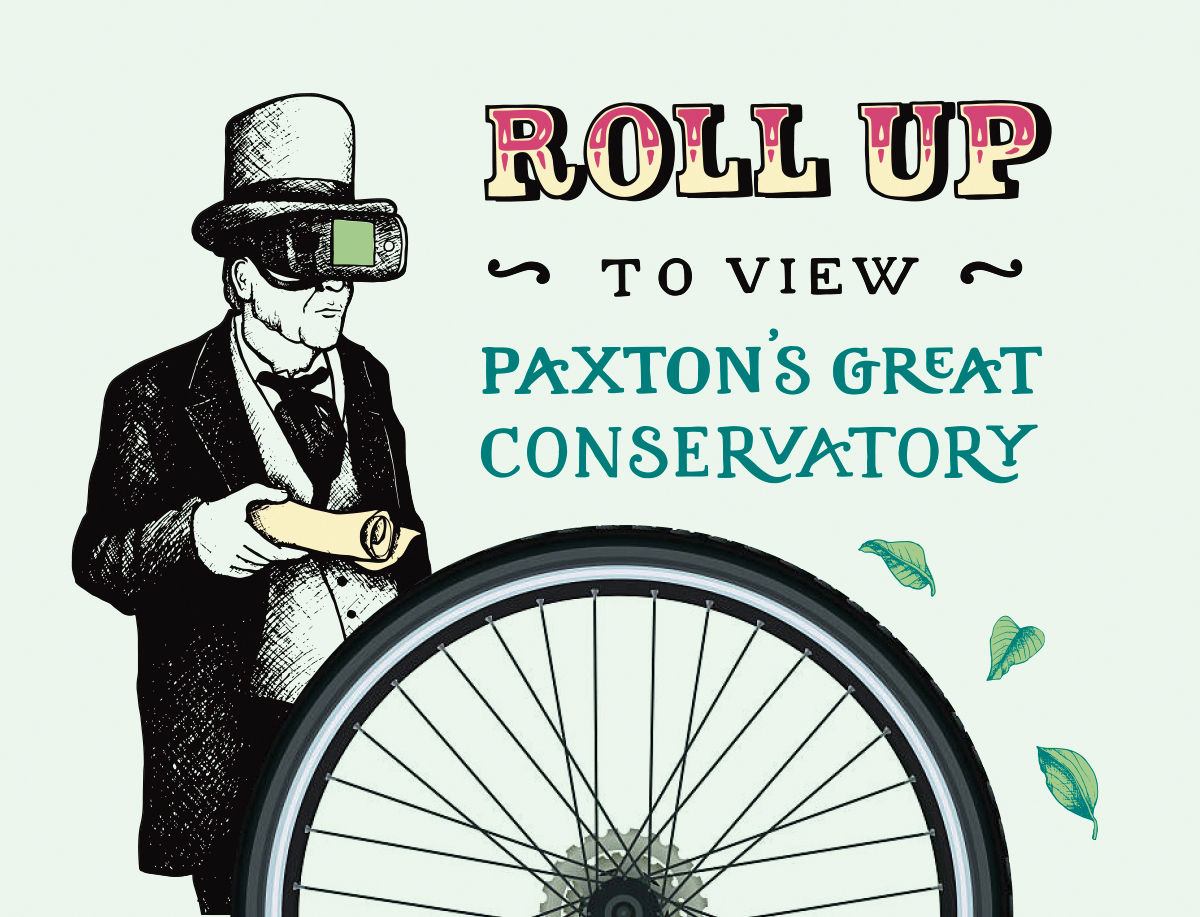 Roll up bicycle lettering