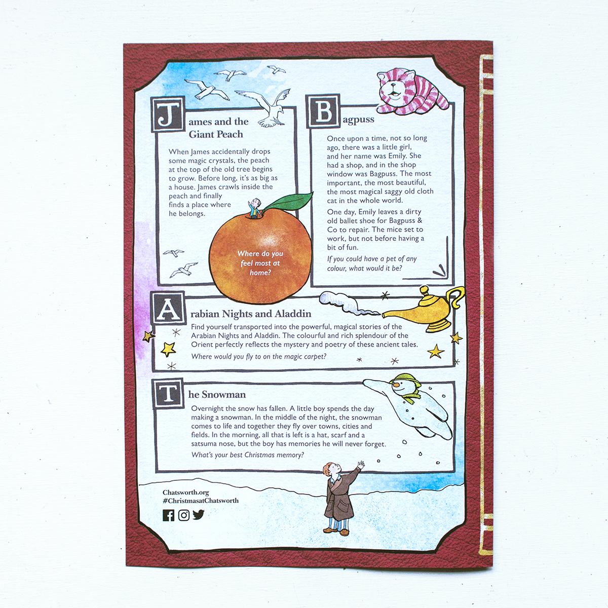 chatsworth illustrated xmas leaflet