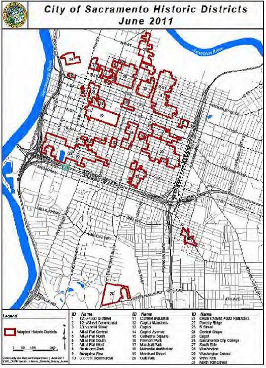 Sacramento Historic Districts