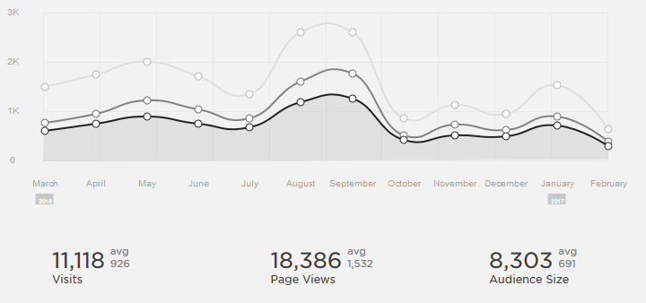 Website Views Per month