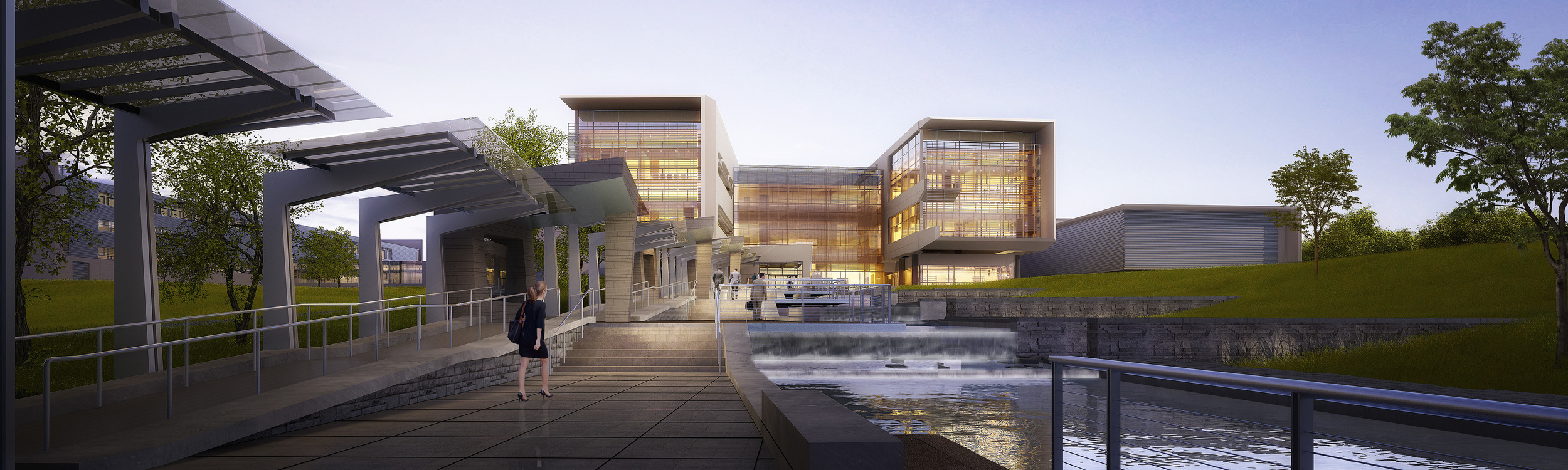 NBAF. Project designed by Marco Cano working at Haynes Whaley Associates.  Renderings courtesy of Perkins+Will
