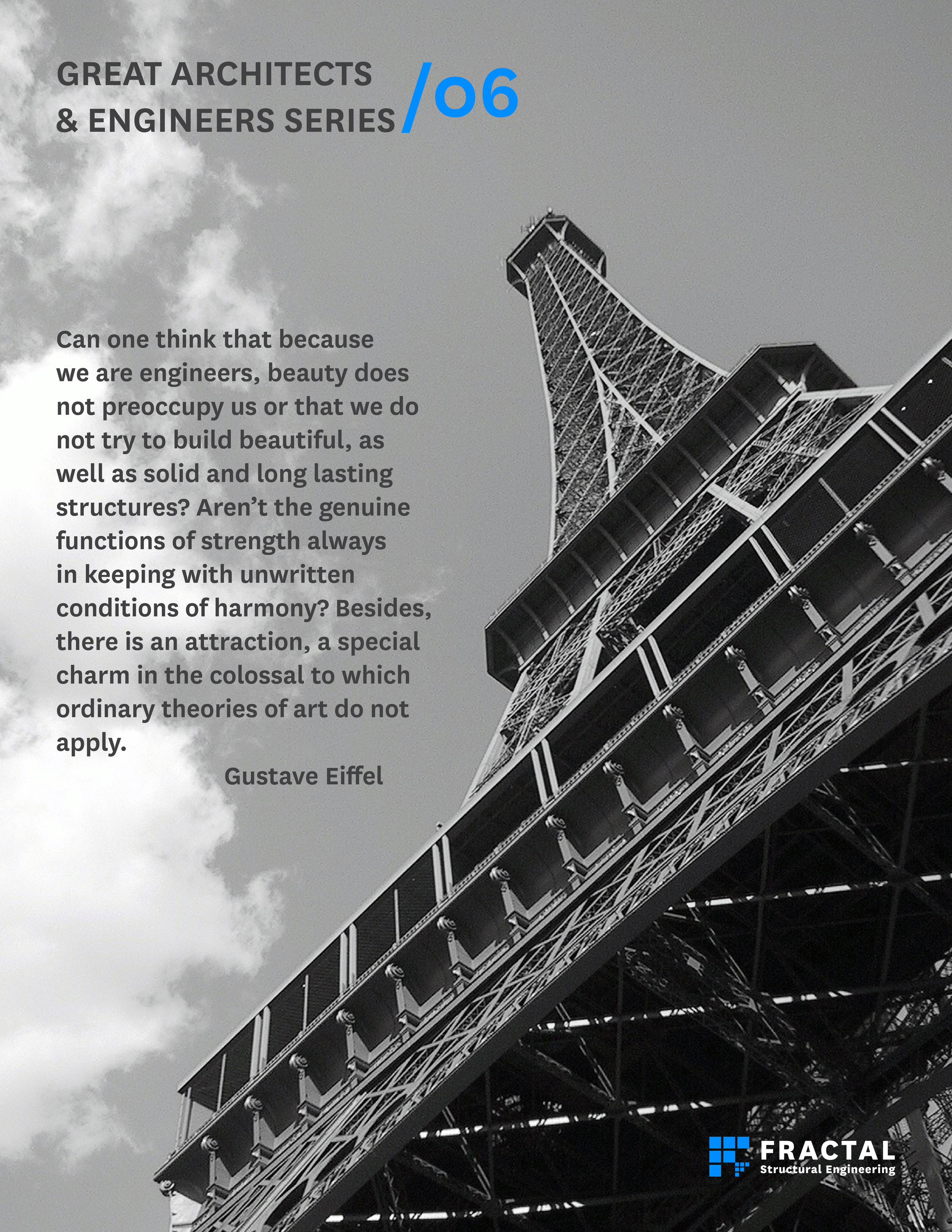 Gustave Eiffel.  Poster by Marco Cano, FRACTAL