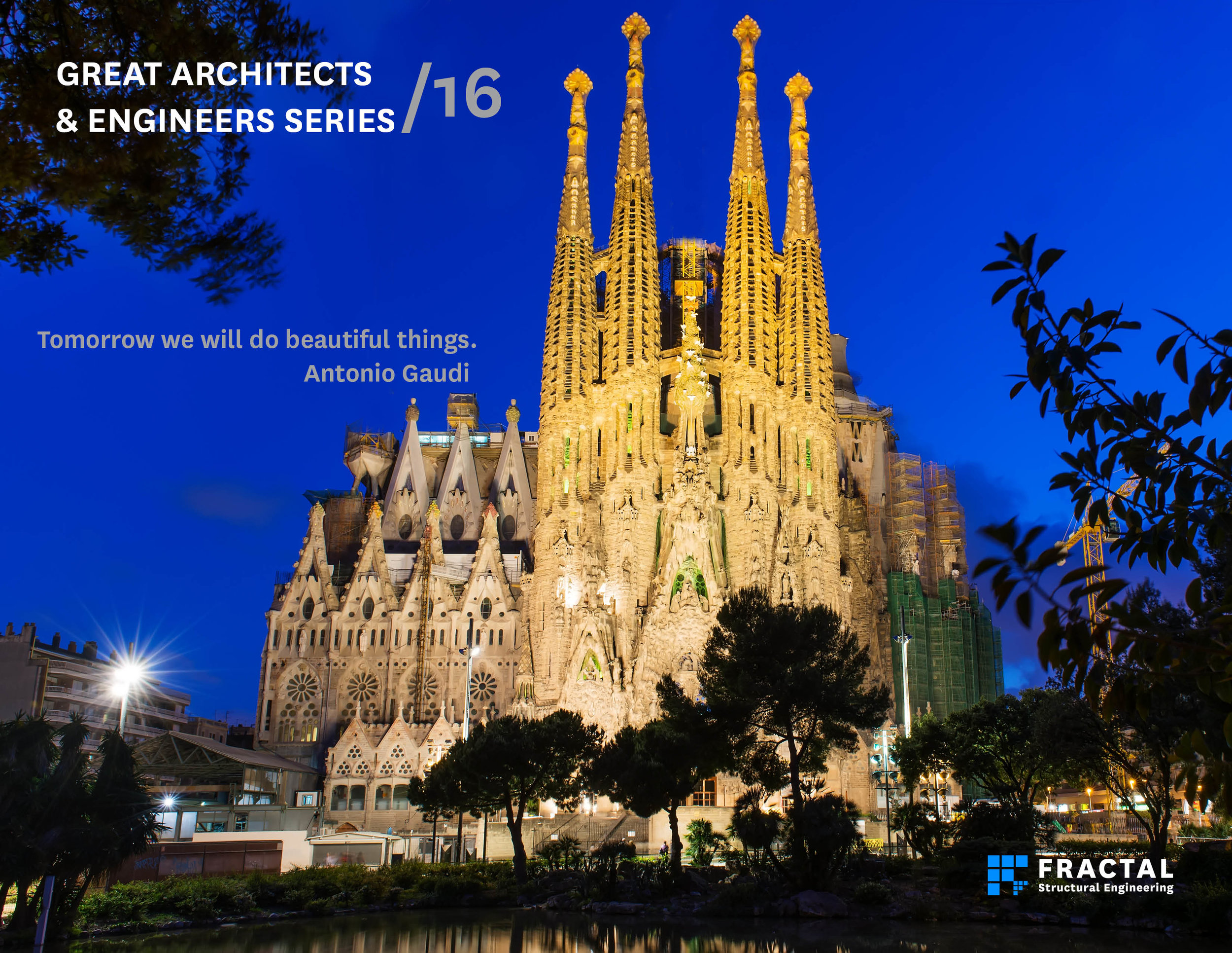Sagrada Familia by Antonio Gaudi.  Poster by Marco Cano