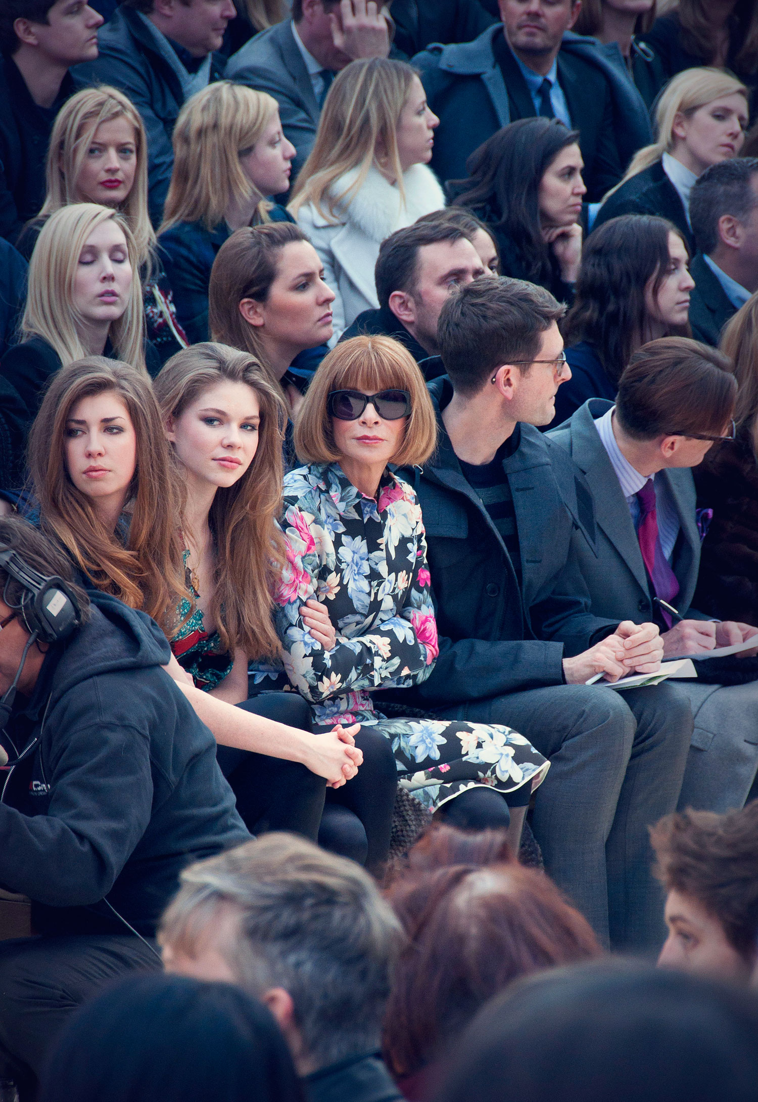 Anna Wintour. London Fashion Week