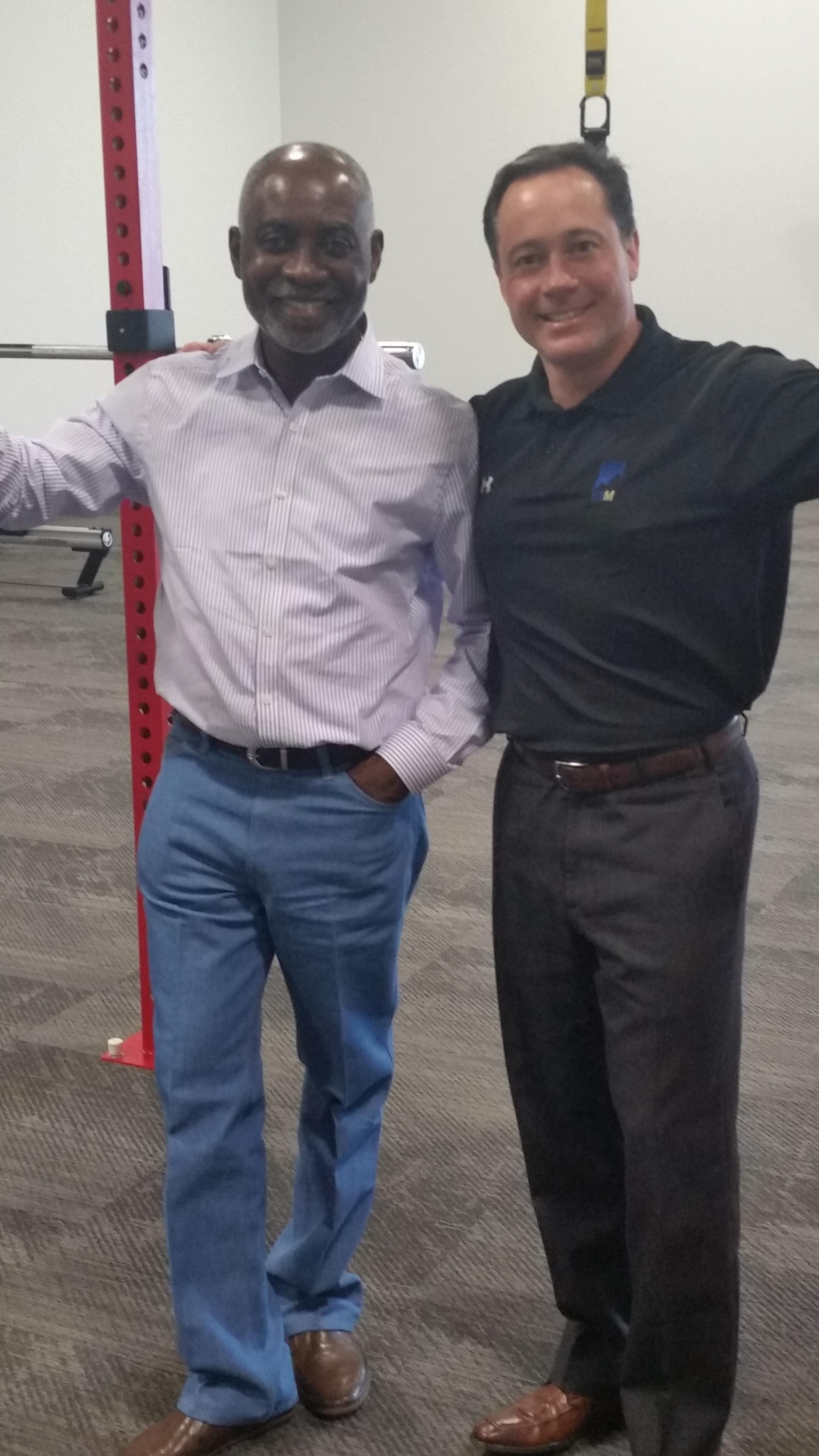 Professor Boachie-Adjei and K2M CEO Mr. Eric Major