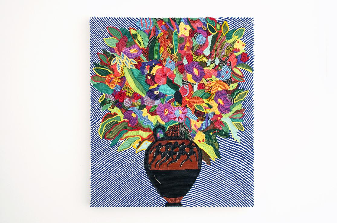 Caroline Larsen_Terracotta Panathenaic with Flowers_Oil on Canvas_69 x 79 cm_2018.jpg