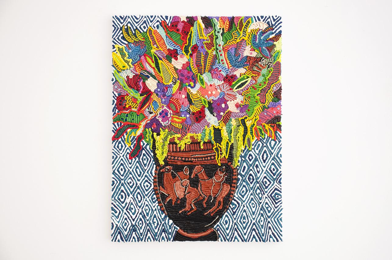 Caroline Larsen_Column-krarer with Flowers_Column-krarer with Flowers_Oil on Canvas_61 x 46 cm_2018.jpg