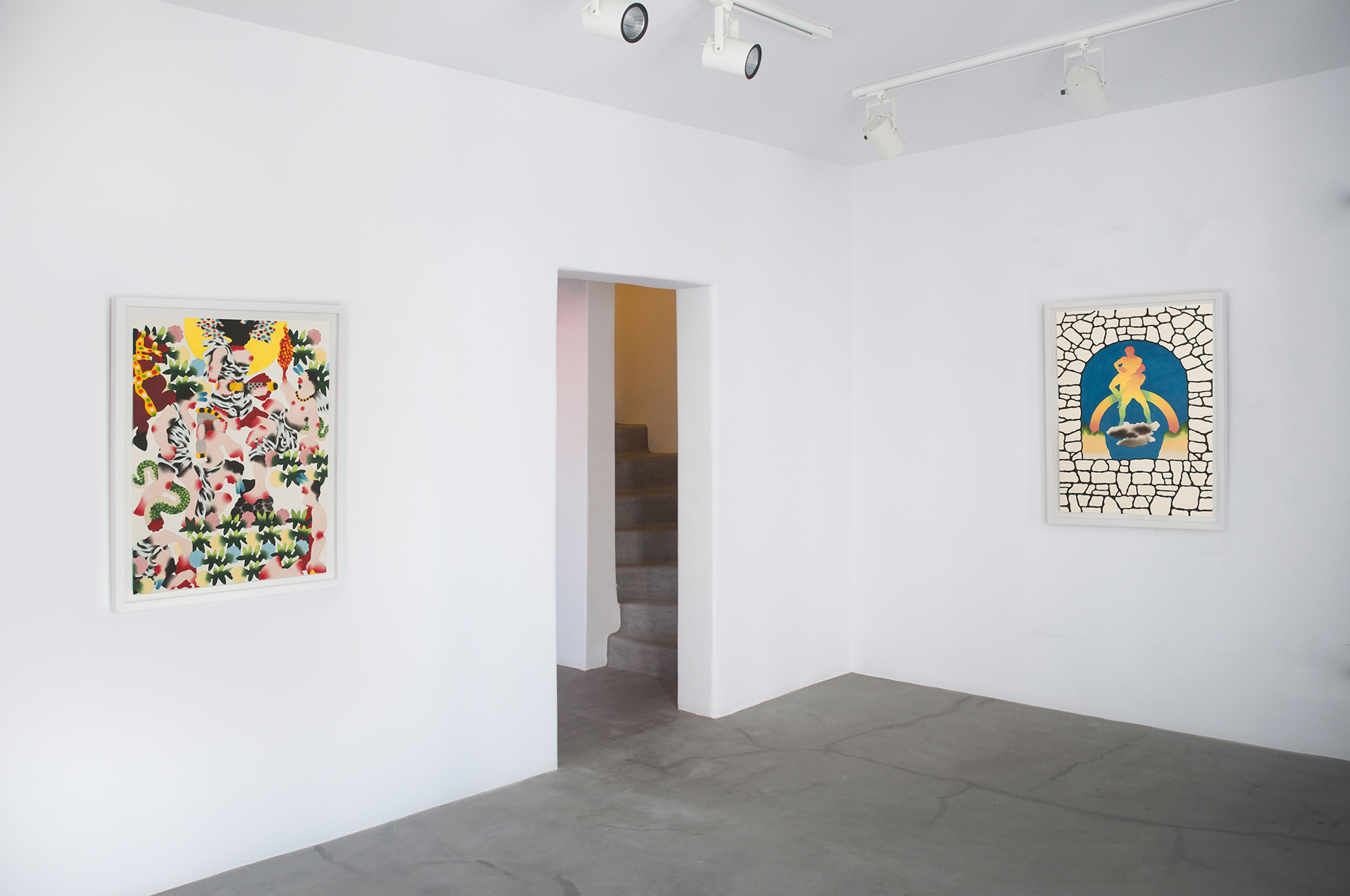 Mathew Palladino_Gigantomachy_Heracles VS Alcyoneus, Flowers from Gaea_2018_installation shot_4 copy.jpg