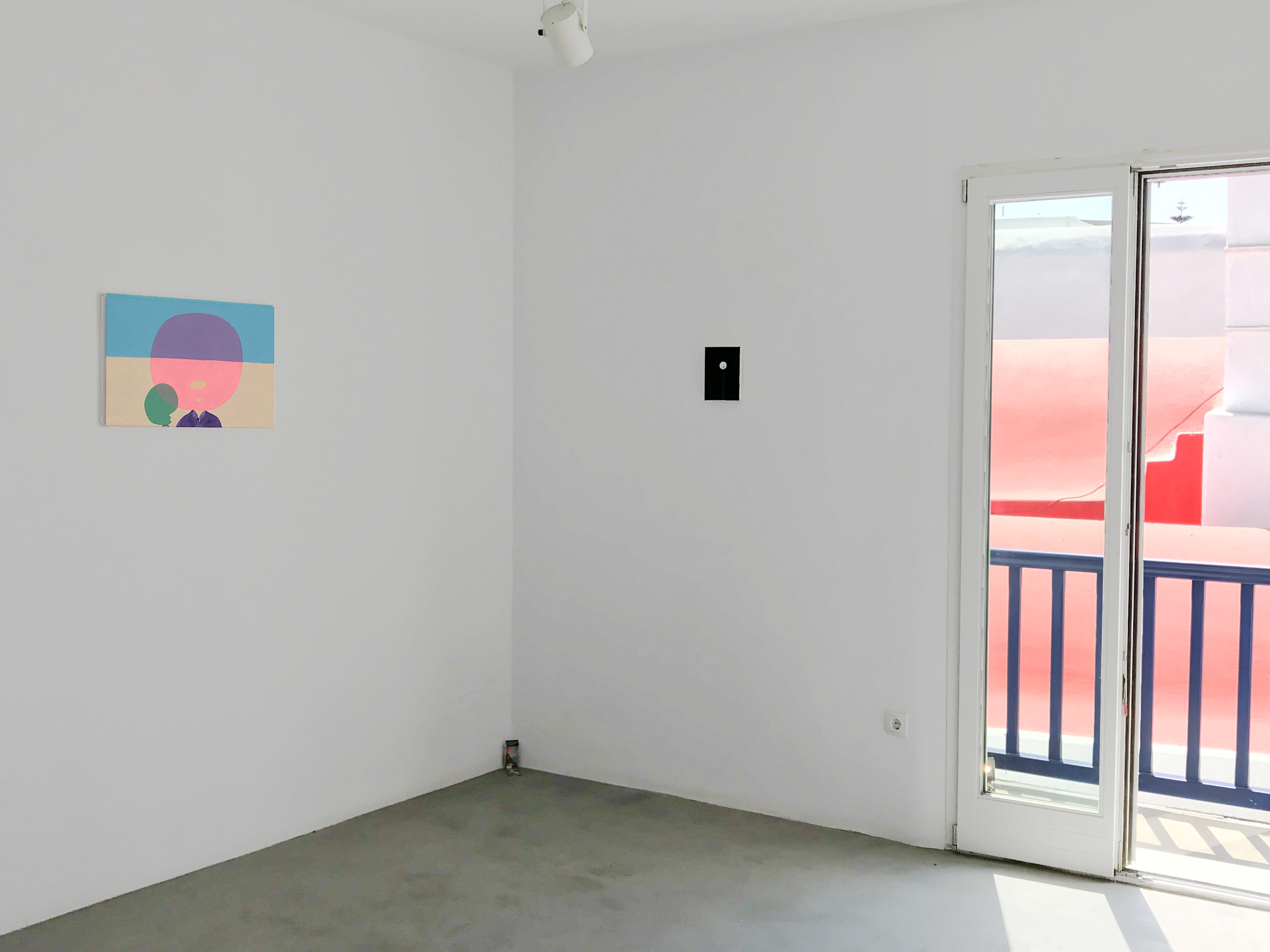 Peter McDonald_This, that and the other_Pink Emerald, Mykonos Gallery, Moon 2_2018_2018_installation shot.jpg