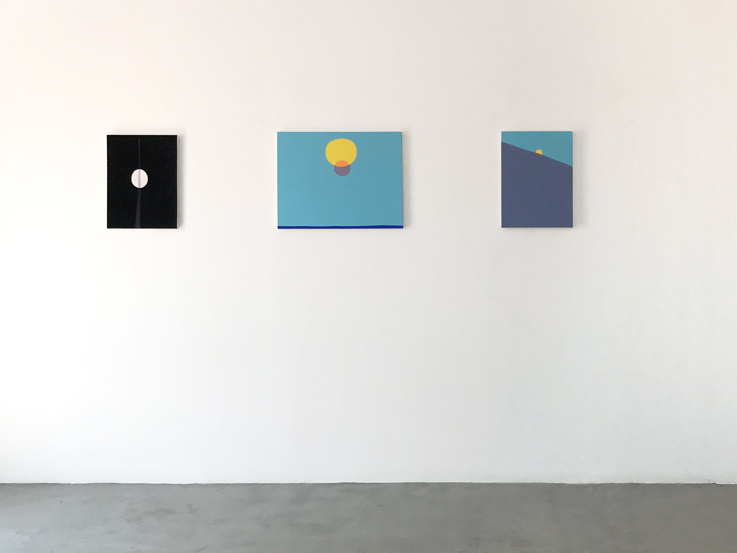 Peter McDonald_This, that and the other_Moon2, Sun, Sun 2_installation shot_2018.jpg