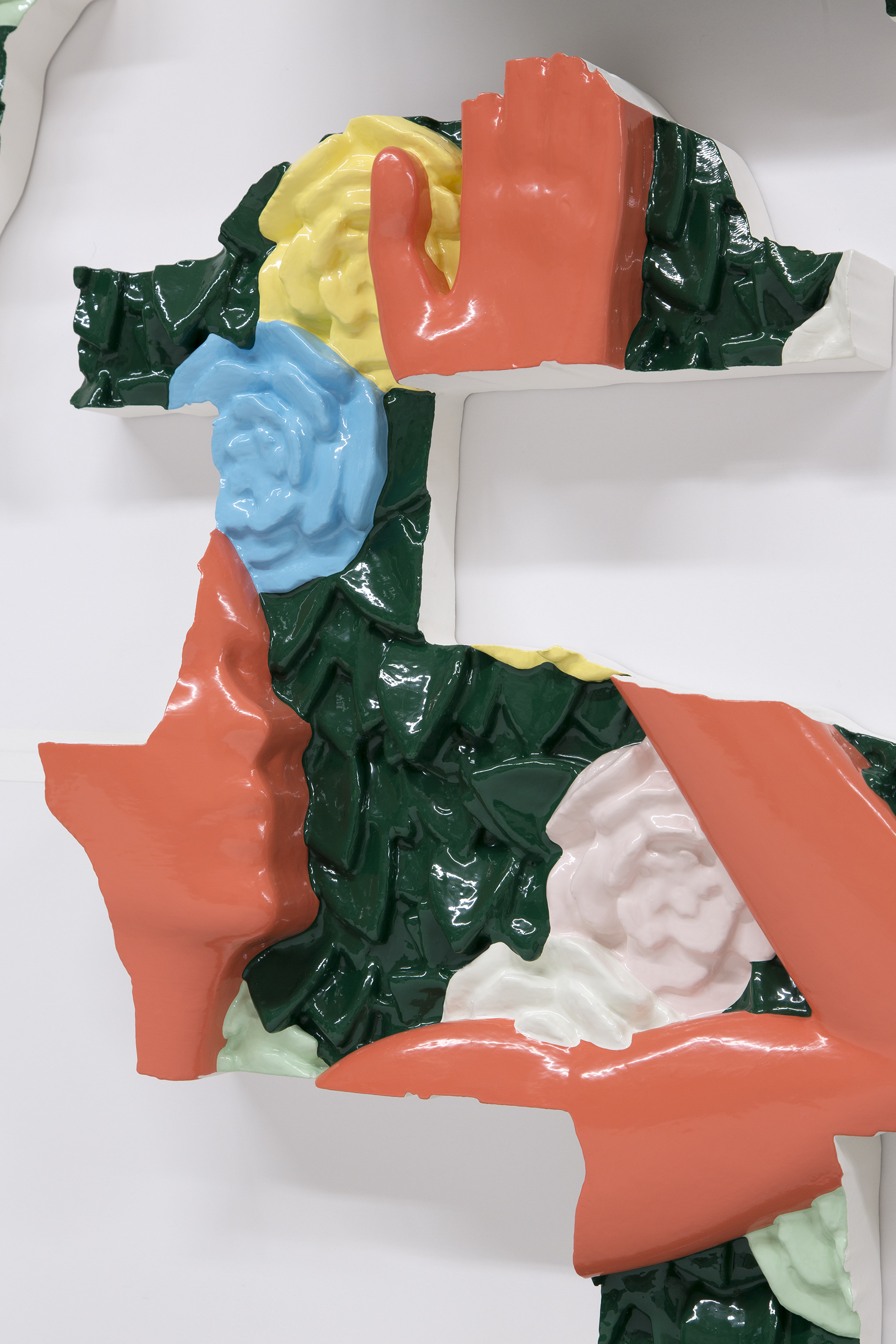 Matthew Paladino_In-A-Gadda (In The Garden)_Enamel on resin, plastic and wood in 6 panel sections_142 x 111 x  12,5 cm_2018_deatail shot.jpg