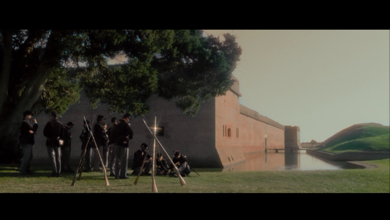 Fort Pulaski (masquerading as a fort in 1865 Washington DC)