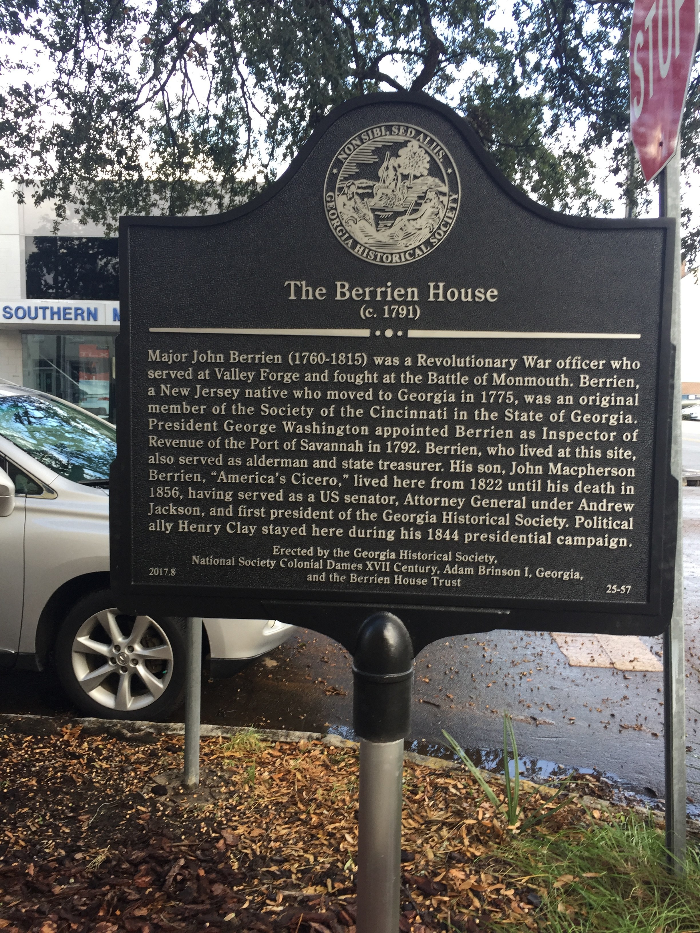 The house has a spiffy new historical marker on Habersham Street.