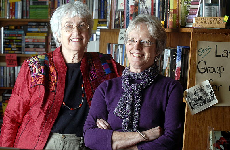 Pat Kehde, Right, with her Raven Bookstore Partner Mary Lou Wright