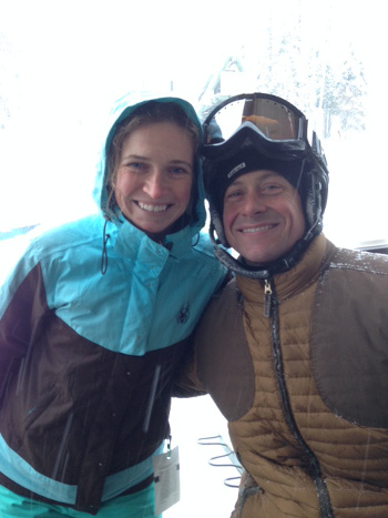 Hilary and her husband John took advantage of a powder day at Big Mountain Resort