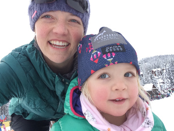Jamie hit the slopes with Sabine