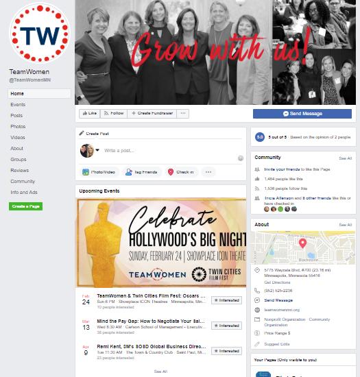 Facebook Business Page - Team Women