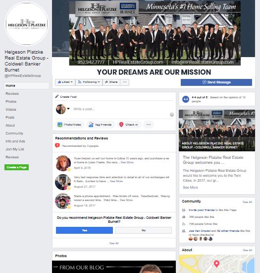 Facebook Business Page - Helgeson/Platzke