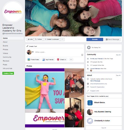 Facebook Business Page - Empower Girls Academy
